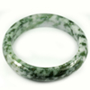 Green White Jade Bangle Size 87x69x15 Mm. 471.88 Ct. Natural Gemstone Unheated