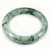 Green Color Jade Bangle Size 87x67x14 Mm. 430.76 Ct. Natural Gemstone Unheated