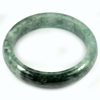 Green Jade Bangle Size 88 x 68 x 16  Mm. 522.24 Ct. Natural Gemstone Unheated