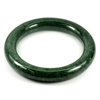 Green Jade Bangle Round Cab Diameter 52 Mm. 271.08 Ct. Natural Gemstone Unheated