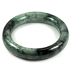 Green Jade Bangle Diameter 55 Mm. 408.44 Ct. Natural Gemstone Unheated