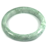 Green Jade Bangle Unheated Natural Gemstone 425 Ct. Size 88 x 67 x 13 Mm.