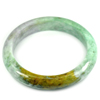 Multi-Color Jade Bangle Unheated Natural Gemstone 425 Ct. Size 88 x 68 x 14 Mm.