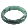 Green Black Jade Bangle Unheated Natural Gemstone 450 Ct. Size 85 x 64 x 16 Mm.