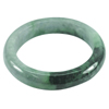 Green Black Jade Bangle Unheated Natural Gemstone 525 Ct. Size 90 x 66 x 15 Mm.