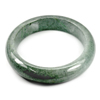 Green Jade Bangle Size 78x59x15 Mm. 415.99 Ct. Natural Gemstone Unheated