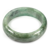 Green Jade Bangle Size 75x59x18 Mm. 457.79 Ct. Natural Gemstone Unheated