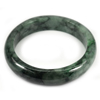 Green Jade Bangle Size 75x58x13 Mm. 332.57 Ct. Natural Gemstone Unheated