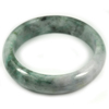Green Jade Bangle Size 78x58x15 Mm. 360.85 Ct. Natural Gemstone Unheated