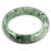 Green Jade Bangle Size 80x62x15 Mm. 382.40 Ct. Natural Gemstone Unheated