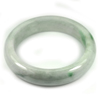 Green White Jade Bangle Size 80x60x16 Mm. 426.04 Ct. Natural Gemstone Unheated