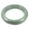 Green Jade Bangle Size 75x57x13Mm. 340.23 Ct. Natural Gemstone Unheated