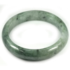 Green Jade Bangle Size 80x63x13 Mm. 369.80 Ct. Natural Gemstone Unheated