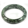 Green Jade Bangle Size 75x60x15 Mm. 346.12 Ct. Natural Gemstone Unheated