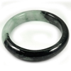 Green Black Jade Bangle Size 78x60x13 Mm. 340.34 Ct. Natural Gemstone Unheated