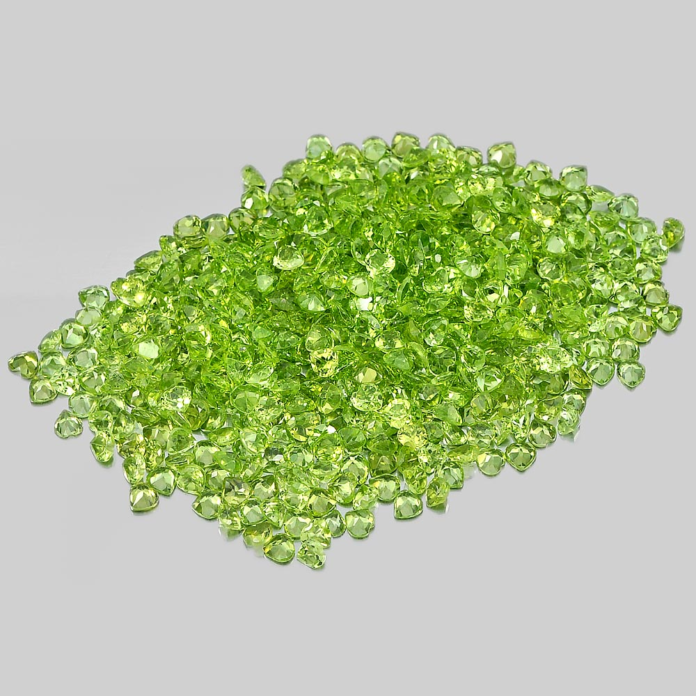 1 Ct. / $ 4 Size 4 Mm. Heart Shape Natural Gemstones Green Peridot Unheated