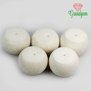 127.55 ct. 5 Pcs. Eye-Catching Top Natural White CORAL