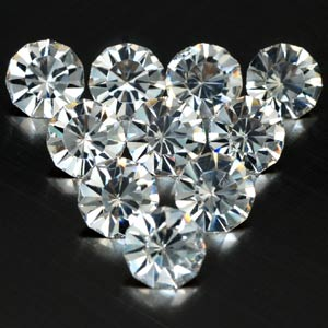 7.79 Ct. 10 Pcs. Diamond cut White CRYSTAL Created Gem