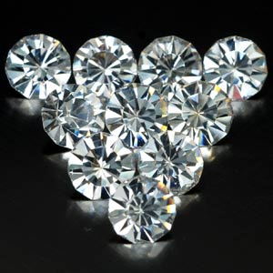 8.05 Ct. 10 Pcs. Diamond cut White CRYSTAL Created Gem