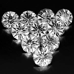 8.03 ct. 10 Pcs. Wonderful Diamond Cut White CRYSTAL