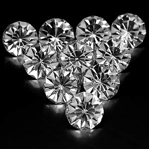 7.94 Ct. 10 Pcs. Wonderful Diamond Cut White CRYSTAL