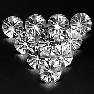 7.96 Ct. 10 Pcs. Beautiful Diamond Cut White CRYSTAL