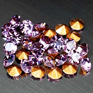 36 Pcs. Diamond Cut Violet CRYSTAL Grade AAA