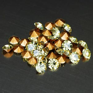35 Pcs. Elegant Diamond Cut Yellow CRYSTAL Grade AAA