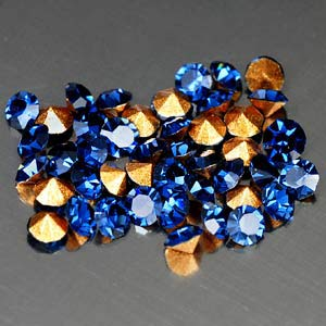 45 Pcs. Dazzle Diamond Cut Deep Blue CRYSTAL Grade AAA