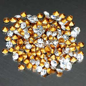180 Pcs. Sparkling Diamond Cut White CRYSTAL Grade AAA