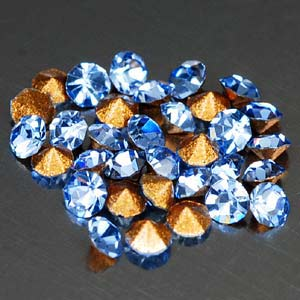 43 Pcs. Blazing Diamond Cut Blue CRYSTAL Grade AAA