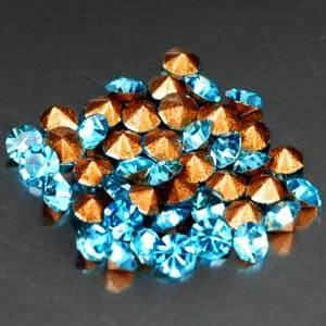 54 Pcs. Graceful Diamond Cut Blue CRYSTAL Grade AAA