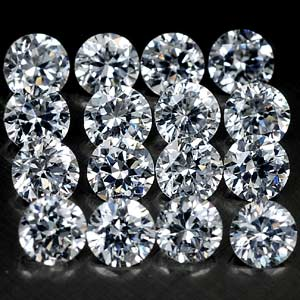 2.00 Mm Round 2.07 Ct 31 Pcs. Clean Cubic Zirconia AAA