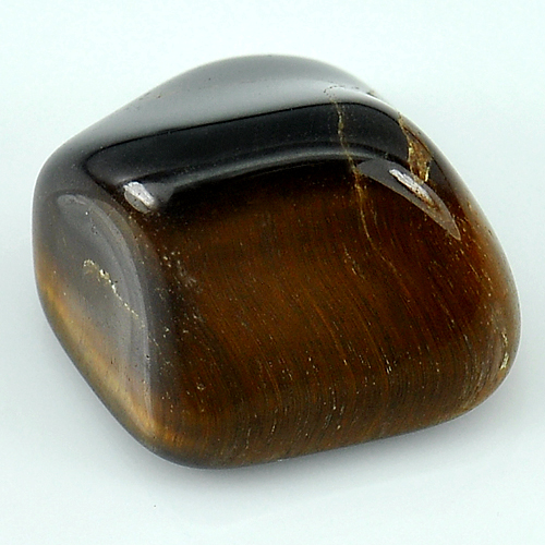 33.78 Ct. Fancy Cabochon Natural Tiger Eye Agate Madagascar Unheated