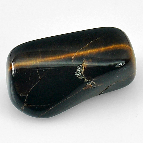 Unheated 14.49 Ct. Fancy Cabochon Natural Tiger Eye Agate Madagascar