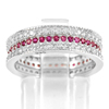 925 Sterling Silver Jewelry Ring Size 6 with Round Shape Pink White CZ 3.91 G.