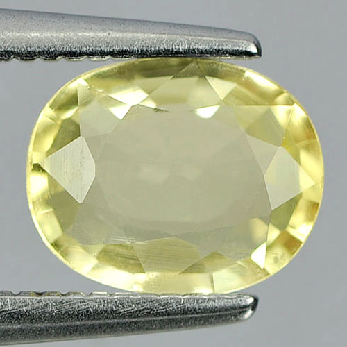 0.92 Ct. Oval Shape Natural Gemstone Light Yellow Beryl From Brazil