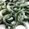 Wholesale Green Jade Ring 10 Pcs. Average Weight 165 Ct. Size 9.5 Natural Gems